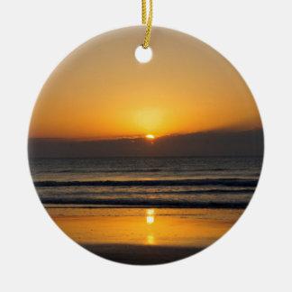 Cocoa Sunrise Ceramic Ornament