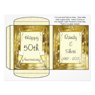 Cocoa, Tea, Cider Packet Golden Anniversary Favors Flyer