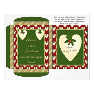 Cocoa, Tea, Cider Packet Holiday Christmas Favors 21.5 Cm X 28 Cm Flyer
