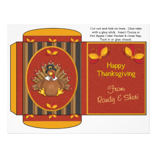 Cocoa, Tea, Cider Packet Thanksgiving Favors Flyer