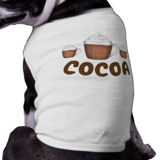 Cocoa the Dog Coco Hot Chocolate Winter Foodie Shirt