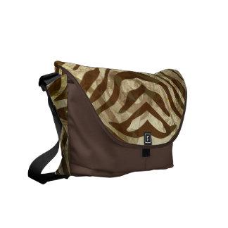 Cocoa Zebra Pattern Rickshaw Messenger Bag