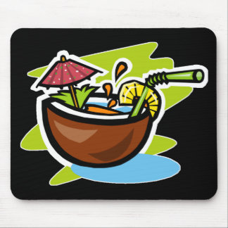 Coconut 2 Tropical Fruit Drink Mouse Pad