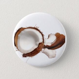 Coconut 6 Cm Round Badge