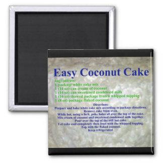 Coconut Cake Recipe Magnet