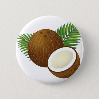 Coconut Cartoon 6 Cm Round Badge