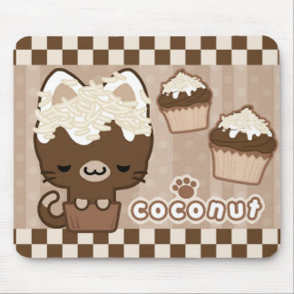 Coconut Cupcake Kitty Mousepad