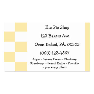 Coconut Custard Pie Colors Double-Sided Standard Business Cards (Pack Of 100)