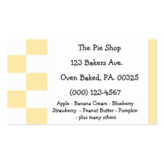 Coconut Custard Pie Colors Business Card