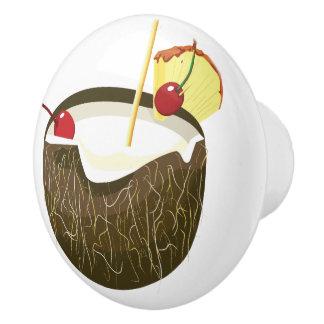 Coconut Drink Tiki Bar Door Knob