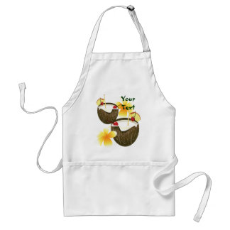Coconut Drinks  Luau Tropical Party Apron