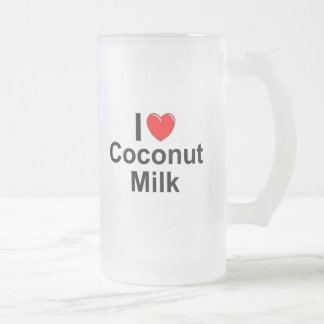 Coconut Milk Frosted Glass Beer Mug