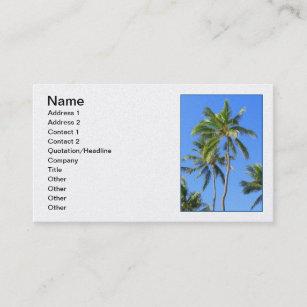 Coconut palm tree business cards zazzle au coconut palm trees business card colourmoves