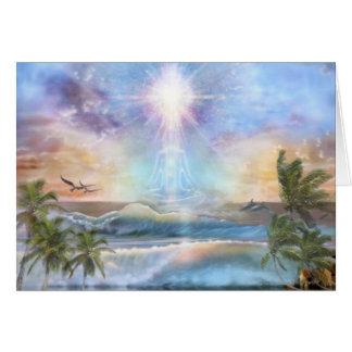 Coconut Sunrise Meditator Card