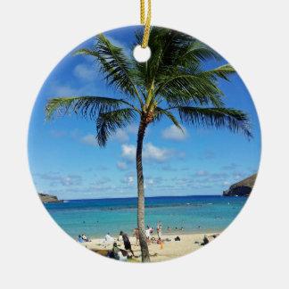 Coconut Trees Ceramic Ornament