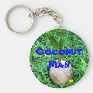 CoconutMan  Key-Chain Basic Round Button Key Ring