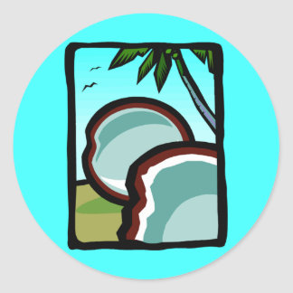 Coconuts and Palms Classic Round Sticker