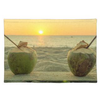 Coconuts at sunset on Bang Tao beach, Phuket Placemat