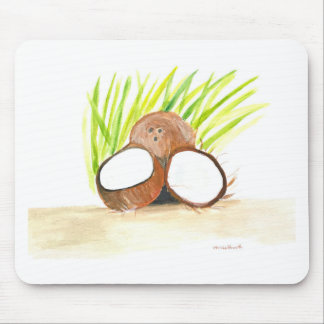 Coconuts fruits watercolour mouse pad