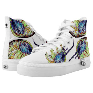 CoCoNuTs! In Amazingly Detailed Watercolors High Tops