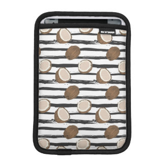Coconuts on Grunge Stripes Pattern iPad Mini Sleeve