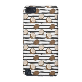 Coconuts on Grunge Stripes Pattern iPod Touch 5G Cover
