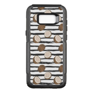 Coconuts on Grunge Stripes Pattern OtterBox Commuter Samsung Galaxy S8+ Case