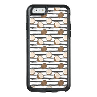 Coconuts on Grunge Stripes Pattern OtterBox iPhone 6/6s Case