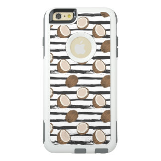 Coconuts on Grunge Stripes Pattern OtterBox iPhone 6/6s Plus Case