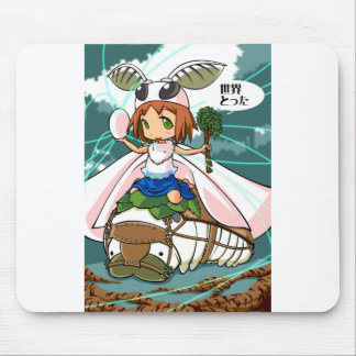 Cocoon God! Silkworm English story Tomioka Silk Mouse Pad