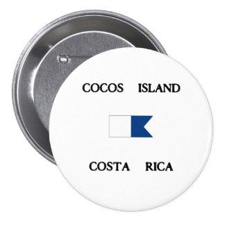 Cocos Island Costa Rica Alpha Dive Flag Pins