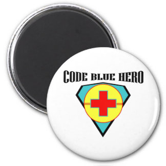 Code Blue Hero 6 Cm Round Magnet
