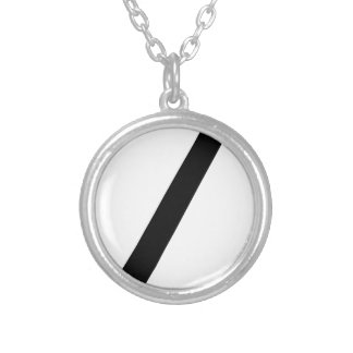 Code Break Silver Plated Necklace