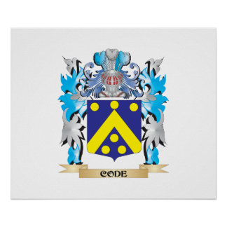 Code Coat of Arms - Family Crest Posters