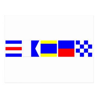 Code Flag Caden Postcard