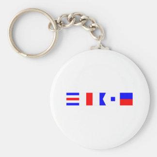Code Flag Chase Basic Round Button Key Ring