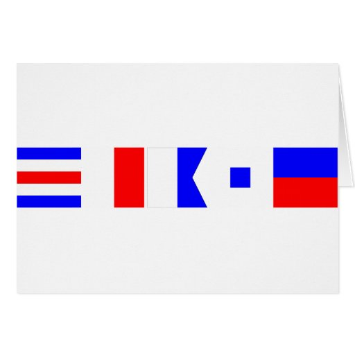 Code Flag Chase Greeting Card