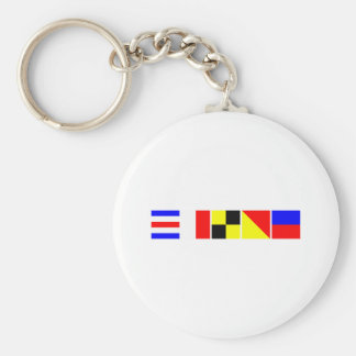 Code Flag Chloe Basic Round Button Key Ring
