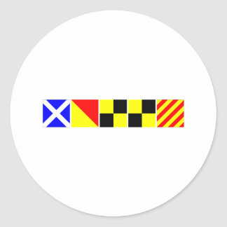 Code Flag Molly Classic Round Sticker