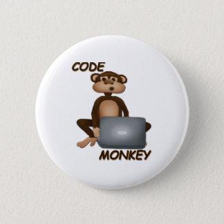 Code Monkey 6 Cm Round Badge