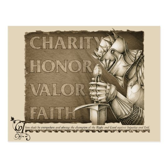Code of Chivalry Postcard