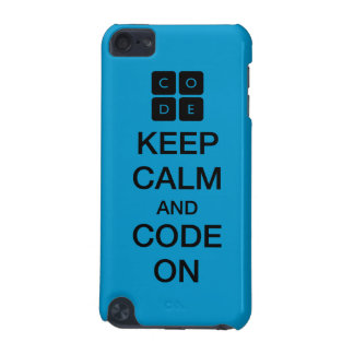 """Code.org """"Keep Calm and Code On"""" iPod Touch (5th Generation) Case"""