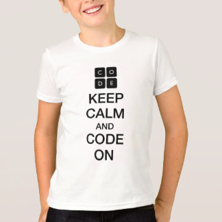 "Code.org ""Keep Calm and Code On"" T-shirts"