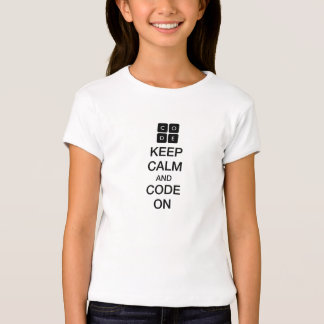 "Code.org ""Keep Calm and Code On"" T Shirts"