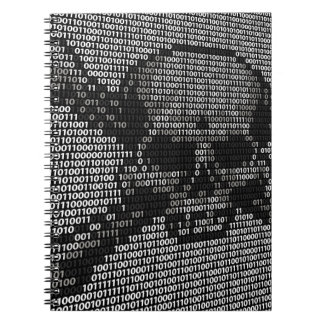 Code Skull and Crossbones Piracy Concept Spiral Notebooks