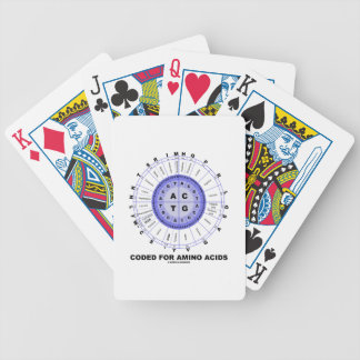 Coded For Amino Acids (Genetic Code DNA) Bicycle Playing Cards