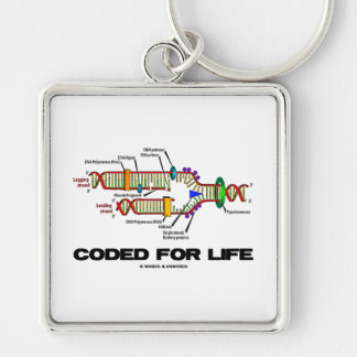 Coded For Life (DNA Replication) Key Ring