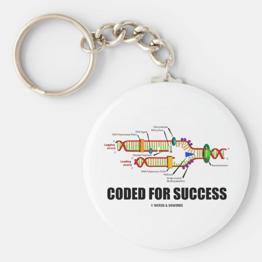 Coded For Success (DNA Replication) Keychain