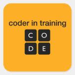 Coder In Training Square Sticker