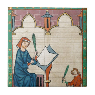 Codex Manesse, 1300s Small Square Tile